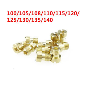 10 Sizes Scooter Motorcycle Carburetor M5 Main Jet Nozzle for GY6 100-140 Set