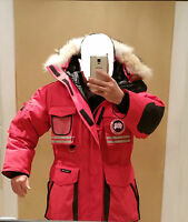 """2018 """"RED LABEL"""" HOLOGRAM TAG """"RED"""" CANADA GOOSE SNOW MANTRA MEN L PARKA JACKET"""