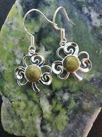 Connemara marble Shamrock Sterling silver Earrings