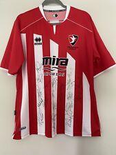 *BNWT* 2010-11 Squad Signed Cheltenham Town Home Shirt - Large