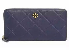 Tory Burch Women's Monroe Leather Continental Wallet in Navy 1518