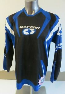 Mens NO FEAR Rogue Series MX Motorcycle Jersey Blue Black Long Sleeve Size L