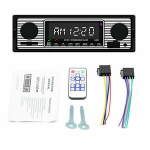 Bluetooth Vintage Car FM Radio MP3 Player Stereo USB AUX Classic Stereo Audio