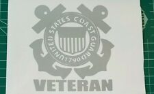 United States Coast Guard USCG Veteran Car Decal Sticker
