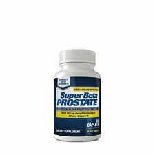 New Super Beta Prostate 60 Caplets 250mg Beta-Sitosterol - Exp 12/22+