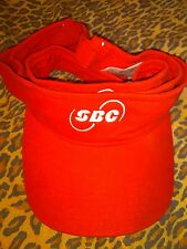 SBC Southwestern Bell Telephone Company Red 1 Size Fits All Visor Hat Unisex