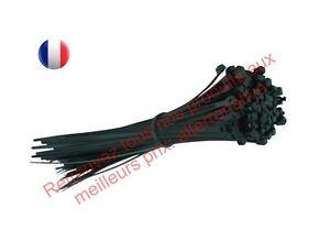 Collier de serrage plastique - Nylon - Lot de 100 pièces - Noir