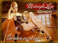 """Midnight Lace Woodies Metal Sign 9"""" x 12"""""""