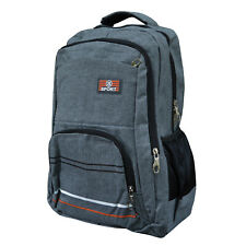 Herren Damen Freizeit Rucksack Sport Reise Wandern Backpack grau