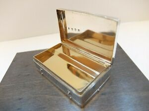 ANTIQUE STERLING SILVER MUSIC BOX SNUFF BOX TABATIERE (WATCH VIDEO)