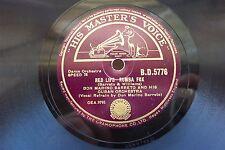 DON MARINO BARRETO 78 RPM RED LIPS / LONDON CONGA HMV BD5776