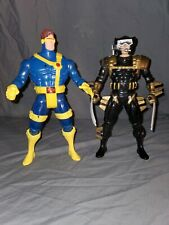"""12""""X-men Used ACTION figure Lot - 2pcs Wolverine And cyclops Very Big Very cool"""