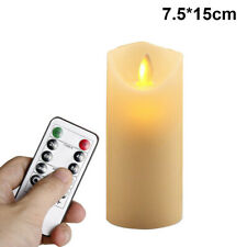 7.5*15cm Candle Flameless LED Remote Control Tealight Wax Flickering Lights Lamp