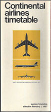 Continental Airlines system timetable 2/1/67 [8081]