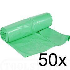 50 X LARGE 65L GARDEN SACKS WASTE REFUSE RUBBISH BIN BAGS GARDENING EXTRA STRONG