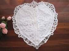Elegant Heart Shape White Color Hand Batten Lace Cotton Cushion Cover Clearance