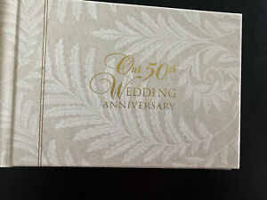 Gibson 50th Wedding Anniversary Photo Album compact New