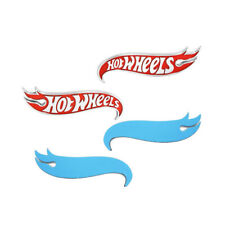 Fits 2x Camaro Hot Wheels Edition Fender Deck Lid Emblem Badge Red Top Quality