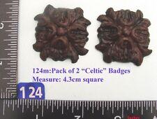 """124M """"2 badges"""" clock case / furniture DIY"""