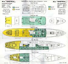 1965 Adriatica Línea Enotria Color-Coded Toallitas Cubierta Plan