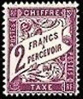 "FRANCE STAMP TIMBRE TAXE N° 42 "" TYPE DUVAL 2F VIOLET "" NEUF xx TTB"