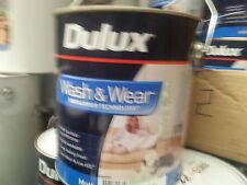 DULUX 1 LITRE INTERIOR WASH/WEAR MATT WHITE COLOUR PAINT