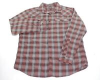 Eddie Bauer Plaid Pearl Snap Long Sleeve Outdoor Western Shirt Mens Size Large