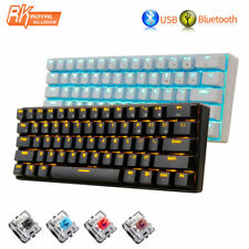 UK Wireless Bluetooth Gaming Mechanical Keyboard LED Backlit Usb Ergonomic RK61