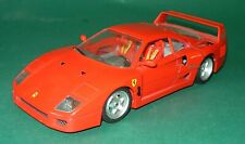 Burago 1/18 Scale 1987 Ferrari F40 Red Burago Rare Discontinued Made in Italy
