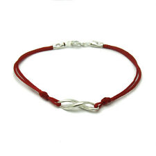 STERLING SILVER BRACELET SOLID 925 ETERNITY WITH RED STRING B000171R EMPRESS