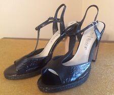 White House Black Market Peep Toe Shoe~Black Platform Heels~Sz 9 1/2 M