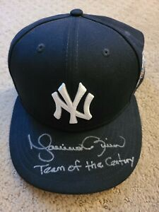 """MARIANO RIVERA SIGNED """"TEAM OF THE CENTURY"""" 1998 WORLD SERIES YANKEES HAT AUTO"""