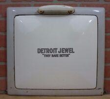Antique DETROIT JEWEL 'THEY BAKE BETTER' Stove Door Decorative Kitchen Art Sign