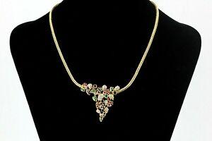 1,08 ct. Diamant Collier 750 Gold Rainbow Edelstein Collier Saphir Rubin Smaragd