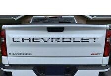 Tailgate Letter Inserts 2019+ Raised For Chevrolet Silverado 1500 2500 3500 Flag