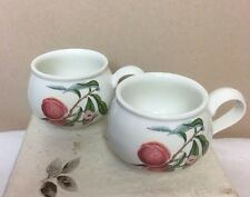 "Set of 2 Portmeirion Pomona ""Grimwood's Royal George Peach"" Footed Cups England"