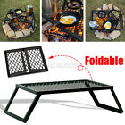 Foldable Camping Grill Portable Barbecue Charcoal BBQ Picnic Outdoor Cooker Part photo