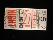 April 27, 1962 Boston Red Sox @ Chicago White Sox Ticket Stub