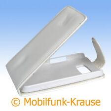 Flip Case Etui Handytasche Tasche Hülle f. HTC HD 2 (Weiß)