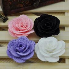 10 Pcs Ribbon Flowers Wedding Decor Sewing Appliques DIY Crafts B119