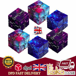 UK Sensory Infinity Cube Stress Fidget Toys for Autism Anxiety Relief Kids Adult