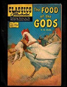 CLASSICS ILLUSTRATED #160 VG/F (O) HRN159 (FOOD OF THE GODS)