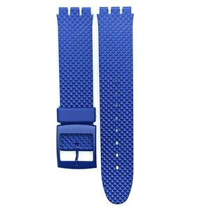 Swatch Watch Strap 17 MM PVC Blue and Transparent Dimond Textured Band
