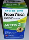*2018 EXP* Bausch + Lomb PreserVision Eye Vitamin AREDS 2 Formula 120 Softgels