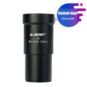 SVBONY 1.25inch (31,7mm) 5X Barlow Linse für Teleskop Okulare Teleskop-Zubehör
