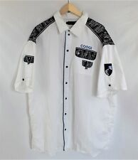 6aeb173f COOGI White Military Short Sleeve Button Front Sz 4xl