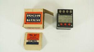 Lionel O Scale Vintage No. 66 Whistle Controller w/ Box B99-2