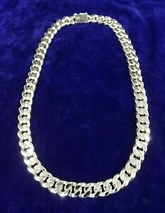 332g MEN'S HEAVY BIKER CUBAN CHAIN LINK SOLID STERLING SILVER 925 NECKLACE 24""