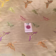 """CHINESE ORIENTAL BUTTERFLY BROCADE SILKY SATIN DRESS FABRIC 44"""" wide Mtex M57"""