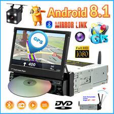 "7"" Autoradio Android GPS NAVI DVD CD FM Bluetooth Single 1DIN Pantalla táctil"